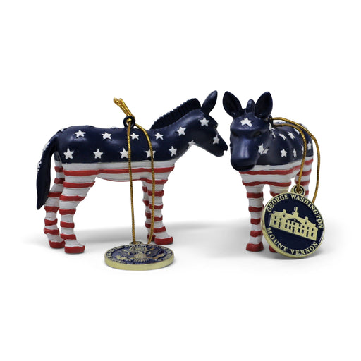 Patriotic Donkey Ornament - CHARLES PRODUCTS INC. - The Shops at Mount Vernon