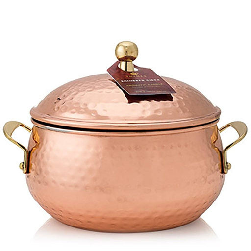 Simmered Cider Copper Pot Candle - Thymes - The Shops at Mount Vernon