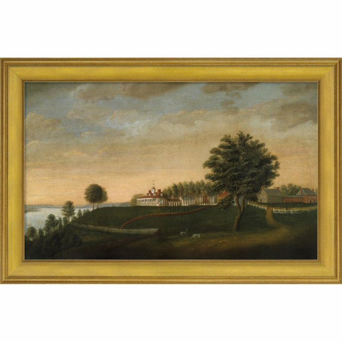 Mount Vernon 1792 East Front Print with Gold Frame - BENTLEY GLOBAL ARTS GROUP - The Shops at Mount Vernon