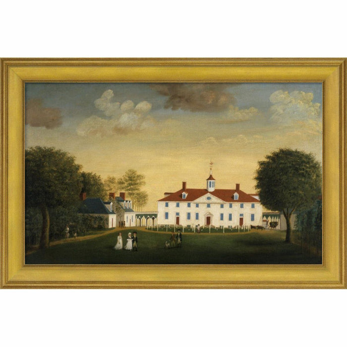 The Mount Vernon 1792 West Front Print with Gold Frame - BENTLEY GLOBAL ARTS GROUP - The Shops at Mount Vernon