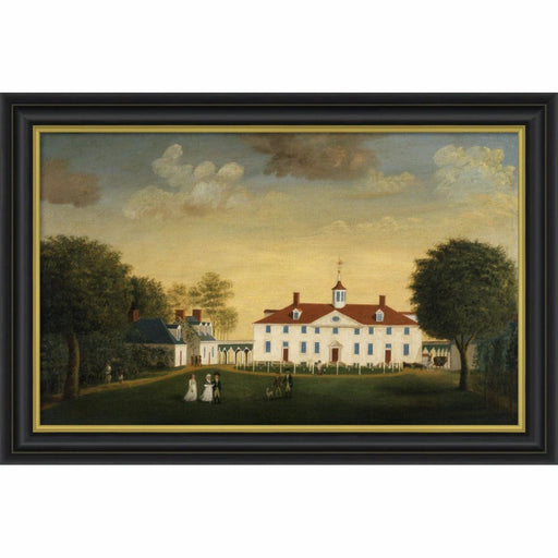 Mount Vernon 1792 West Front Print with Black Frame - BENTLEY GLOBAL ARTS GROUP - The Shops at Mount Vernon
