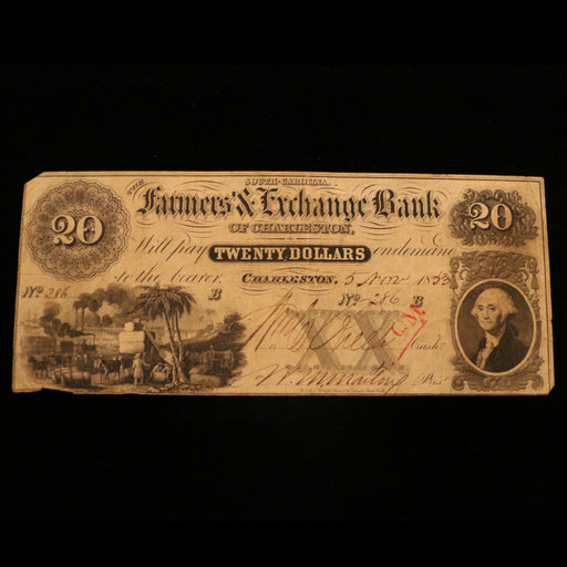 The Farmers and Exchange Bank $20.00 Note - DAVID CONSOLVO - The Shops at Mount Vernon