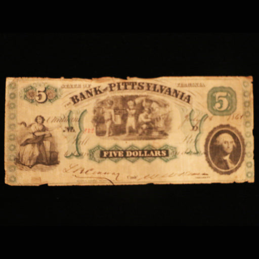 The Pittsylvania Bank $5.00 Note - DAVID CONSOLVO - The Shops at Mount Vernon