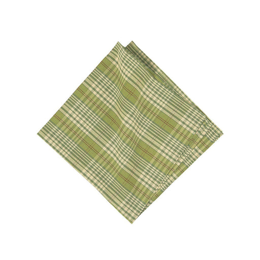 Holly Plaid Napkin - C & F ENTERPRISE - The Shops at Mount Vernon
