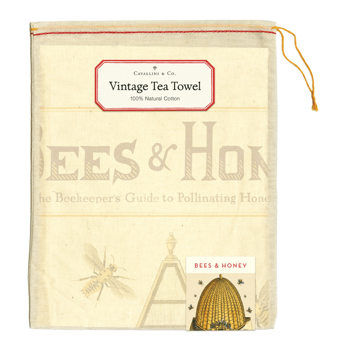 Bees & Honey Tea Towel - Cavallini Papers & Co. Inc - The Shops at Mount Vernon
