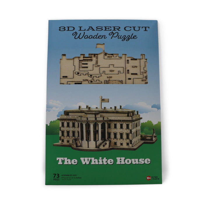 White House 3D Laser-Cut Wood Puzzle - IMPACT - The Shops at Mount Vernon