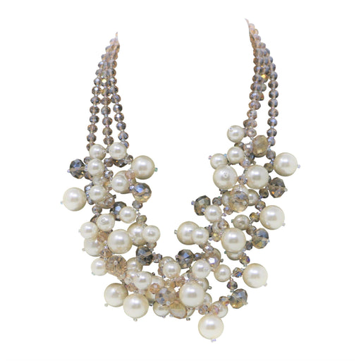 Pearl and Crystal Multi-Strand Necklace - Valerie Sanson - The Shops at Mount Vernon