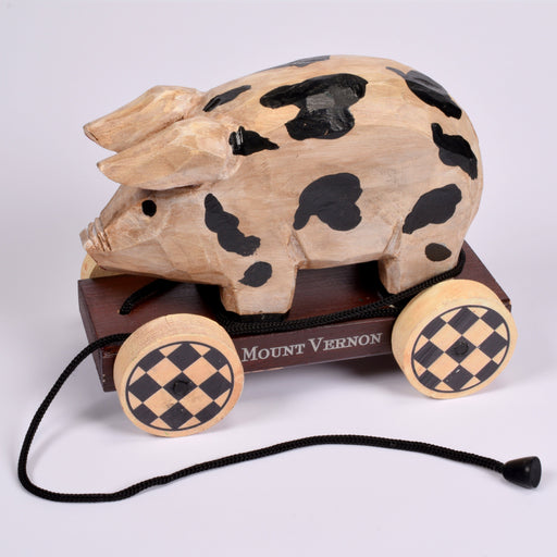 Pig Wooden Decorative Pull Toy - DESIGN MASTER ASSOCIATES - The Shops at Mount Vernon