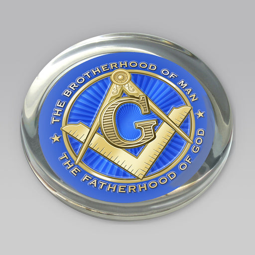 Masonic Logo Paperweight - DESIGN MASTER ASSOCIATES - The Shops at Mount Vernon