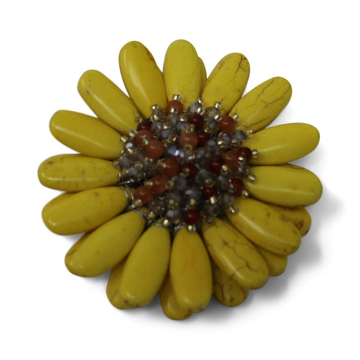 Yellow Gerbera Daisy Pin - Valerie Sanson - The Shops at Mount Vernon