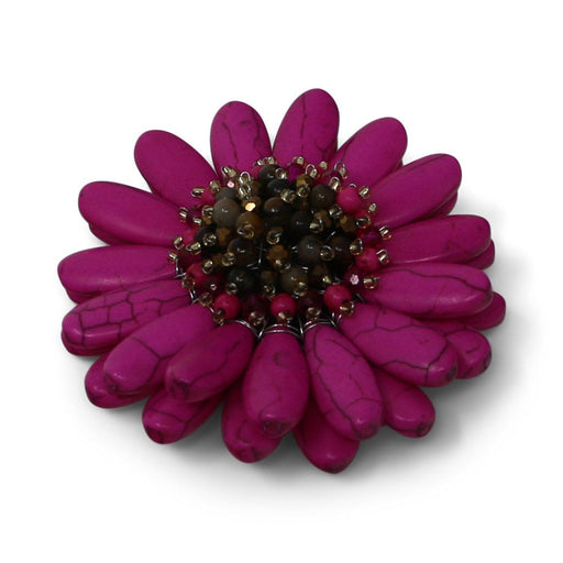 Fuchsia Pink Gerbera Daisy Pin - Valerie Sanson - The Shops at Mount Vernon