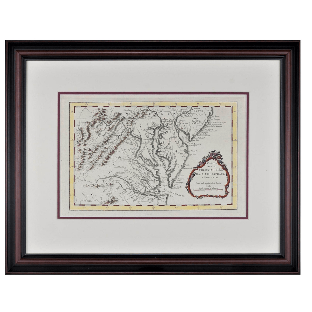 Chesapeake Bay Framed Map - Rick Badwey-Frameabilia - The Shops at Mount Vernon