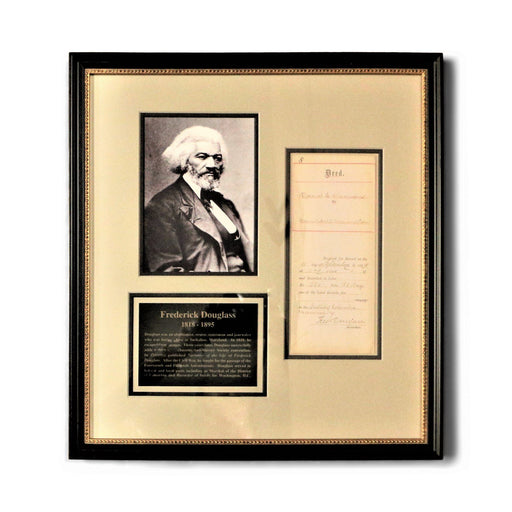 Frederick Douglass Signed Document - Rick Badwey-Frameabilia - The Shops at Mount Vernon