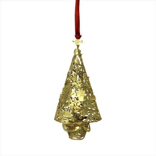 Three-Dimensional Brass Christmas Tree Ornament - DESIGN MASTER ASSOCIATES - The Shops at Mount Vernon