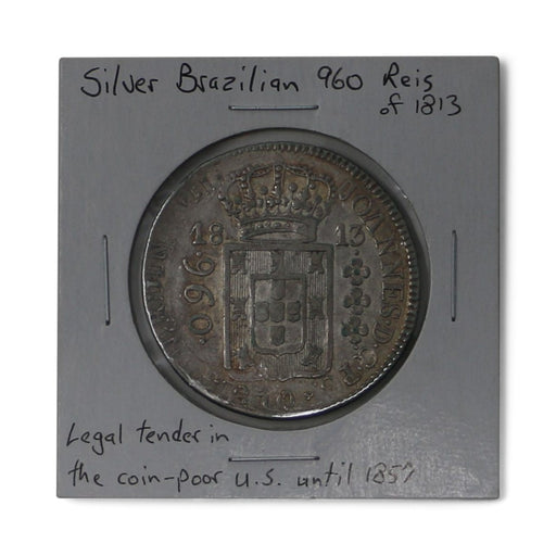Brazilian 960 Reis Silver Antique Coin - DAVID CONSOLVO - The Shops at Mount Vernon