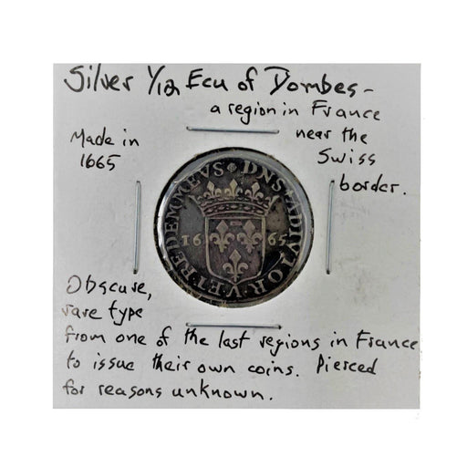1665 French Silver Ecu Antique Coin - DAVID CONSOLVO - The Shops at Mount Vernon