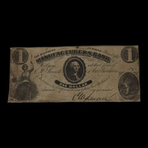 1861 One-Dollar Antique Note - DAVID CONSOLVO - The Shops at Mount Vernon