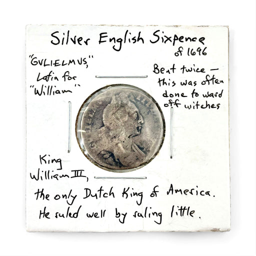 1696 English Silver Sixpence Antique Coin - DAVID CONSOLVO - The Shops at Mount Vernon