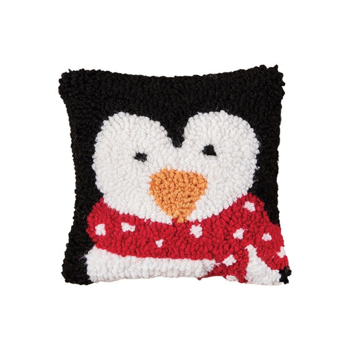 Penguin Hooked Mini Pillow - C & F ENTERPRISE - The Shops at Mount Vernon
