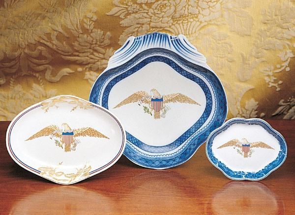 Diplomatic Eagle Oval Dish