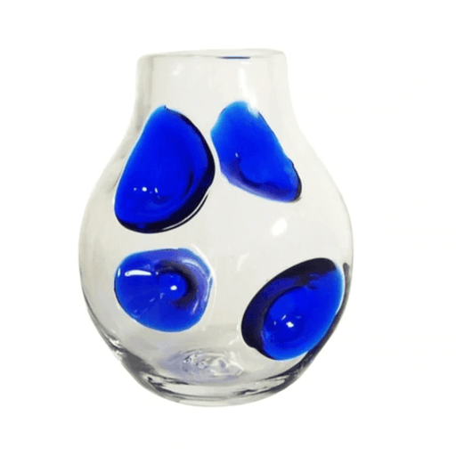 Clear & Cobalt Dollop Vase - BLENKO GLASS COMPANY - The Shops at Mount Vernon