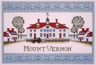 Mount Vernon Mansion Shell Border Cross Stitch - The Shops at Mount Vernon - The Shops at Mount Vernon