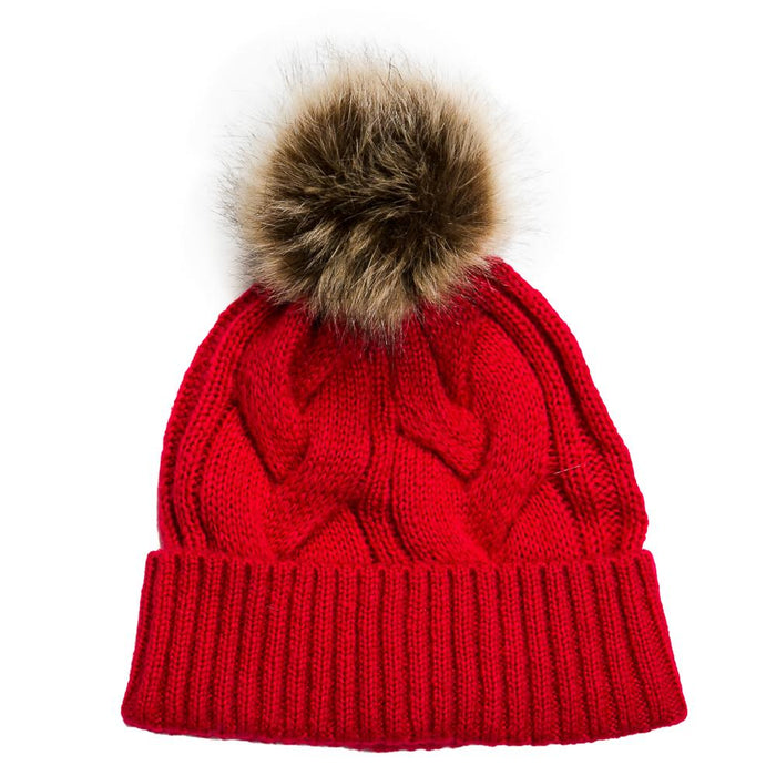 Cranberry Knit Harlow Hat - TOP IT OFF - The Shops at Mount Vernon