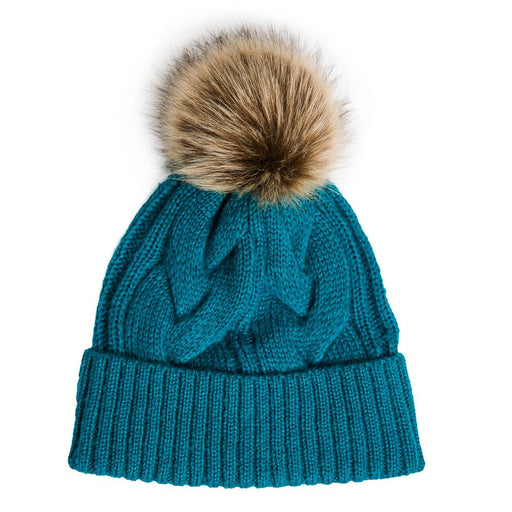 Teal Knit Harlow Hat - TOP IT OFF - The Shops at Mount Vernon