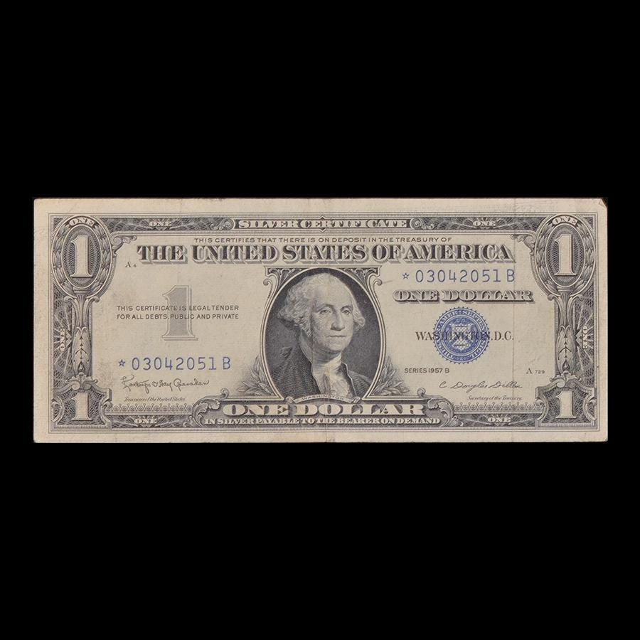 Us dollar silver certificate star note the shops at mount vernon us dollar silver certificate star note xflitez Images