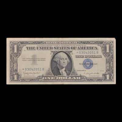 US Dollar Silver Certificate Star Note