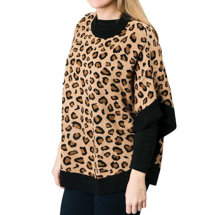 Leopard Layne Poncho - TOP IT OFF - The Shops at Mount Vernon