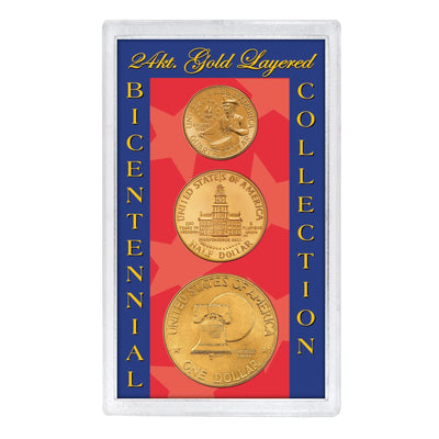 24kt Gold Layered Bicentennial Collection