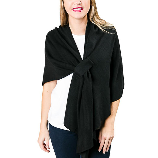 Black Knit Wrap - TOP IT OFF - The Shops at Mount Vernon