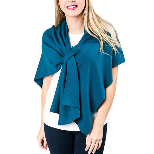 Teal Knit Wrap - TOP IT OFF - The Shops at Mount Vernon