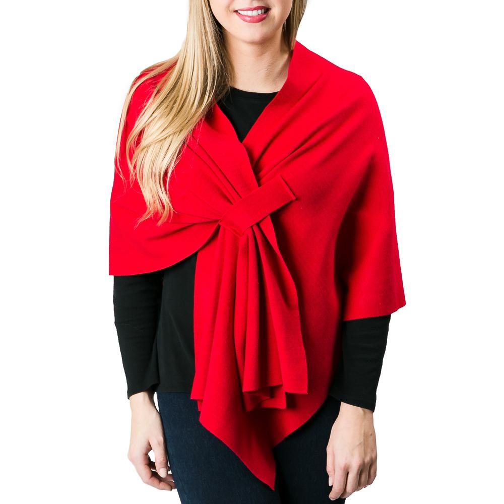 Tomato Knit Wrap - TOP IT OFF - The Shops at Mount Vernon