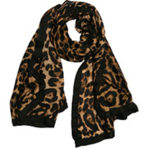 Black and Camel Leopard Scarf - TOP IT OFF - The Shops at Mount Vernon