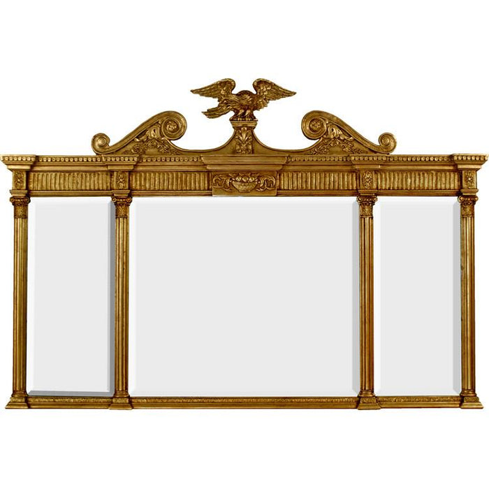 Mount Vernon Burnished Gold Leaf Tri-Panel Classic Mirror - The Shops at Mount Vernon - The Shops at Mount Vernon