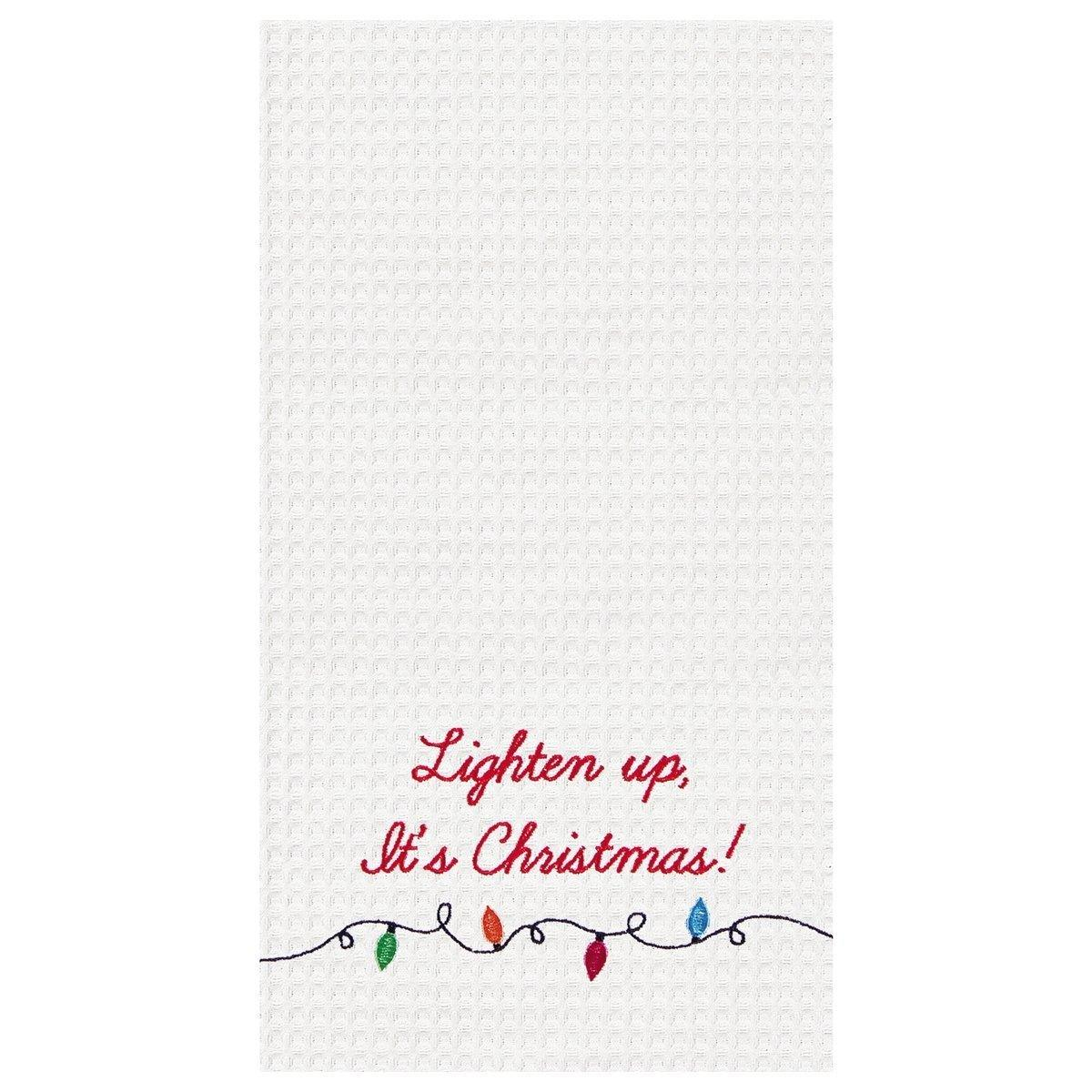 Lighten Up, It's Christmas! Towel