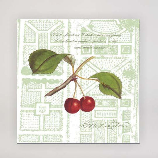Mount Vernon Cherry Botanical Tile - The Shops at Mount Vernon - The Shops at Mount Vernon
