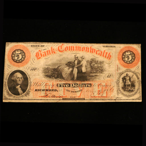The Virginia $5.00 Bank Note - DAVID CONSOLVO - The Shops at Mount Vernon