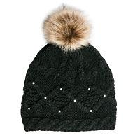 Black PomPom Hat - TOP IT OFF - The Shops at Mount Vernon