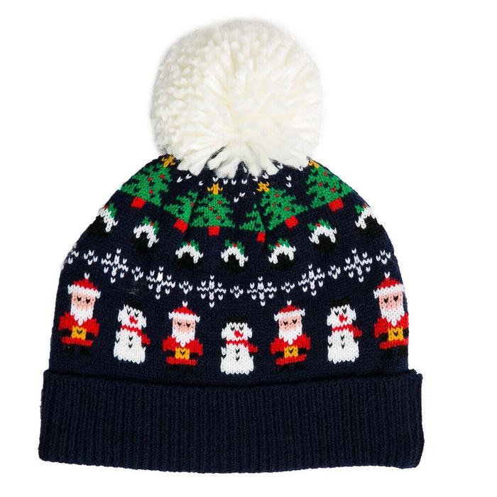 Navy Christmas Hat - TOP IT OFF - The Shops at Mount Vernon