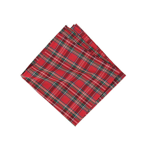 Red Plaid Napkin - C & F ENTERPRISE - The Shops at Mount Vernon