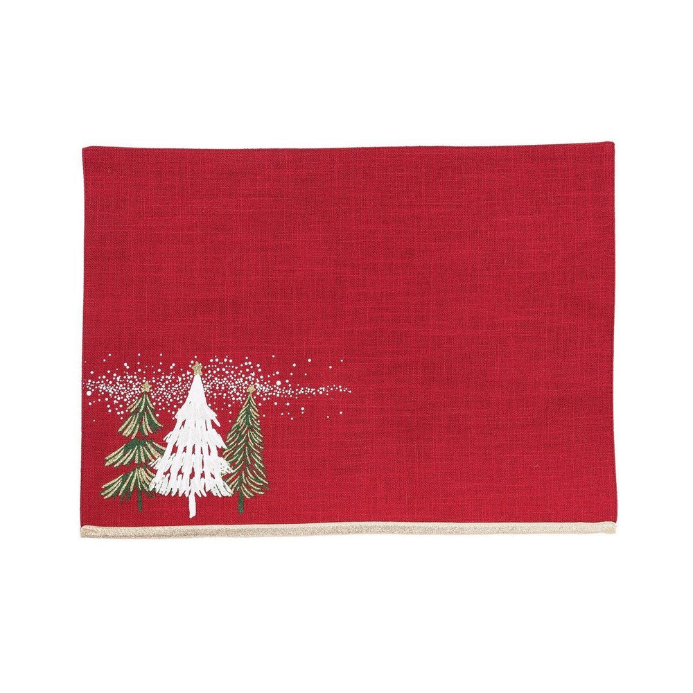 Snowy Trees Placemat - C & F ENTERPRISE - The Shops at Mount Vernon