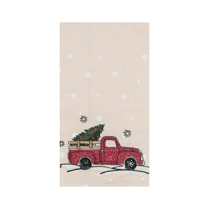 Red Truck Kitchen Towel - C & F ENTERPRISE - The Shops at Mount Vernon