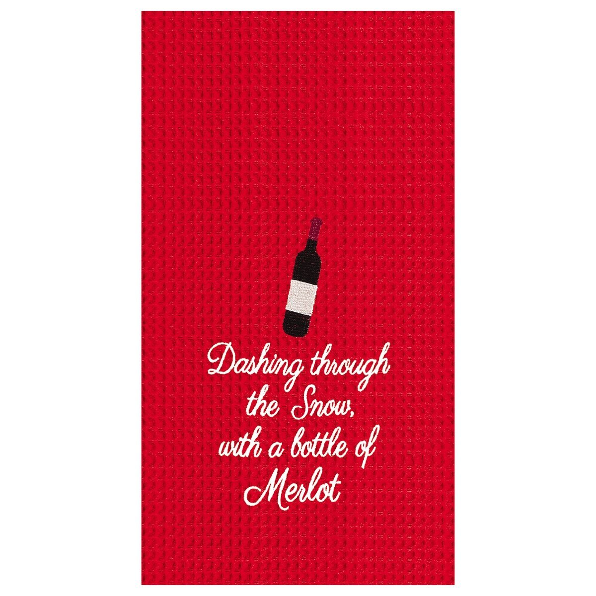 Dashing Through the Snow Merlot Towel
