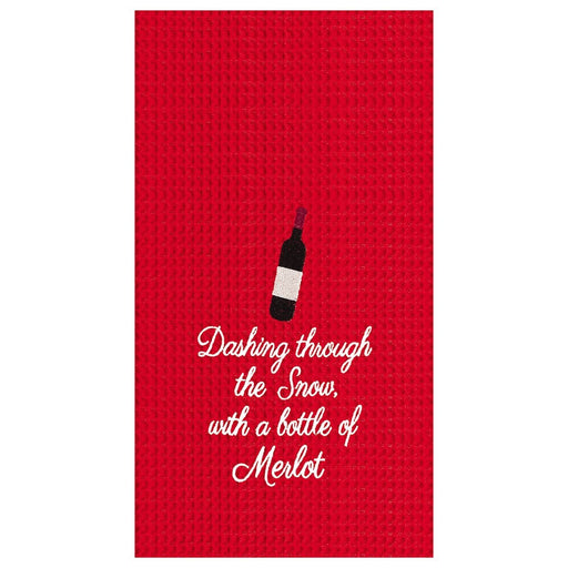 Dashing Through the Snow Merlot Towel - C & F ENTERPRISE - The Shops at Mount Vernon
