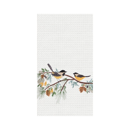 Chickadee Sprig Kitchen Towel - C & F ENTERPRISE - The Shops at Mount Vernon