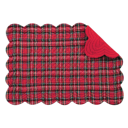 Red Plaid Rectangular Placemat - C & F ENTERPRISE - The Shops at Mount Vernon