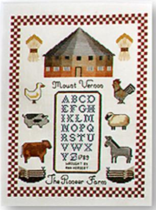 The Pioneer Farm Cross Stitch  - 87619 - The Shops at Mount Vernon - The Shops at Mount Vernon